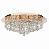 Hanna Flush Ceiling Light 8 Lamp Gold