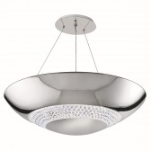 Halo LED Pendant - 8 Light, Polished Chrome, Clear Crystal Glass