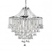 Dorcester Crystal Drop Ceiling Light - 5 Light, Chrome