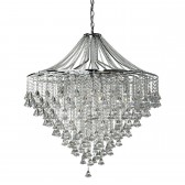 Crystal Chandelier - 7 Light, Chrome