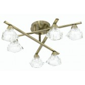 Oaks Lighting 3921/6 AB Alamas Antique Brass 6 Light