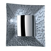 Modern G9 Square Wall Light - Silver