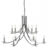 Ascona 12 Light Ceiling Light - Chrome