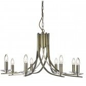 Ascona 8 Light Ceiling Light - Antique Brass