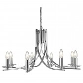 Ascona 8 Light Ceiling Light - Chrome
