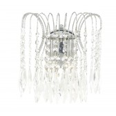 Waterfall Wall Light - Crystal & Chrome