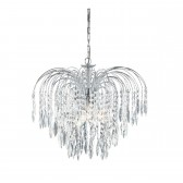 Waterfall Chandelier- Crystal & Chrome