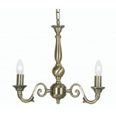 Oaks Lighting 4226/3 AB Amaro 3 X 60 Bc Antique Brass- Clearance