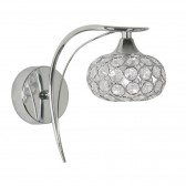 Toulon Single Wall Light - Polished Chrome