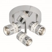 Bubbles LED IP44 Ceiling Plate - 3 Spot, Chrome