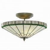 New York Tiffany Ceiling Light - semi flush