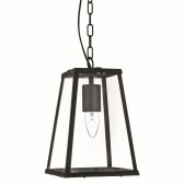 4 Sided Glass Ceiling Lantern - Black