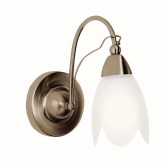 Petal Wall Light - antique brass