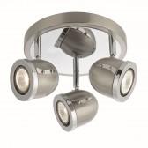 Palmer 3 Spot Ceiling Plate - Chrome, Satin Silver