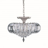 Sigma Chandelier - 5 Light Flush - Chrome