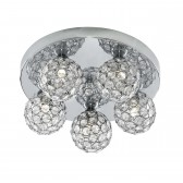 Bellis II - Chrome 5 Light Flush Ceiling Light