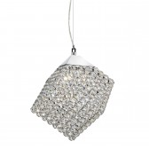 Cube Crystal Glass Ceiling Light - 4 Light, Chrome