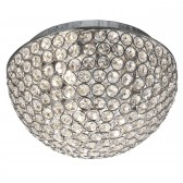 Chantilly Crystal Glass Flush Ceiling Light - 3 Light, Chrome 25