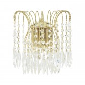 Waterfall Wall Light - Crystal & Gold
