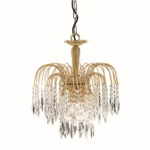 Waterfall Ceiling Light - Crystal & Gold