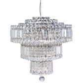 Vesuvius Crystal Chandelier - 9 Light, Chrome