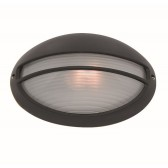 IP54 Outdoor/Porch Light - Acid Glass/Black