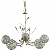 Bellis 2 5 Light Ceiling Light - Antique Brass, Acrylic Beads