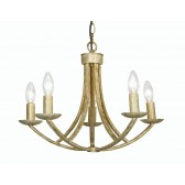 Oaks Lighting 5673/5 CG Caro Cream Gold 5 Light