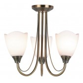 Haughton 3 Light Ceiling Light Antique Brass