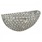 Chantilly Crystal Glass Wall Light - Chrome