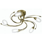 Pandora Decorative Ceiling Light - 5 Light - Antique Brass