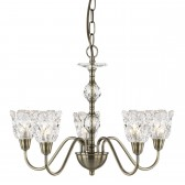 Monarch Decorative Ceiling Light - 5 Light, Antique Brass