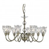 Monarch Decorative Ceiling Light - 8 Light, Antique Brass