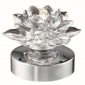 Bellis - I Touch Table Lamp, Chrome, Clear Glass Shade