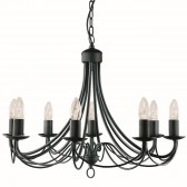 Maypole Ceiling Light - 8 Arm matt black