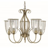 Silhouette Ceiling Light - antique 5 light