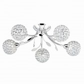 Bellis II - 5 Light Chrome Flush Ceiling Light