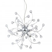 Sonja 12 Light Pendant Light - Chrome, with Crystal Glass