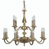Oaks Lighting 700/8+4 SG Aylesbury 12 Light Pendant