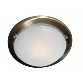 Jupiter Flush Ceiling Light - Ant Brass/Glass