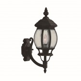 Bel Aire Cast Aluminium Outdoor Wall Light - Black, (IP44)