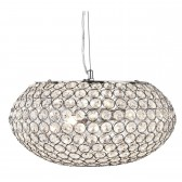 Chantilly 3 Light Crystal Glass Pendant - Chrome