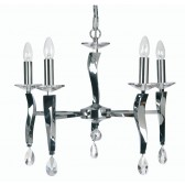 Oaks Lighting 719/5 CH Aire 5 Light Pendant Chrome