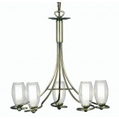 Oaks Lighting 7215/5 AB Nino Antique Brass Pendant