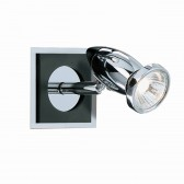 Comet Wall Light -- Black & Chrome