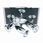 Comet Ceiling Light - Black & Chrome