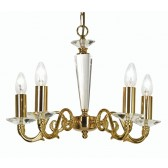 Wren Decorative Ceiling Light - 5 Light Gold Plate