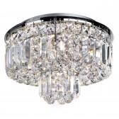 Vesuvius Crystal Flush Ceiling Light - 5 Light, Chrome