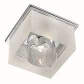 Recessed Frosted Ice Cube Downlight Recessed Chrome