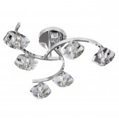 Sculptured Ice Ceiling Light - 6 light